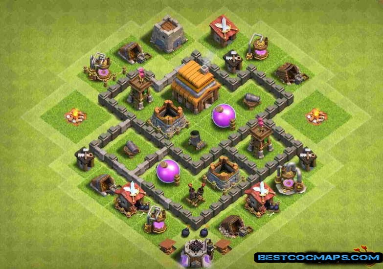 Town Hall 4 base Download