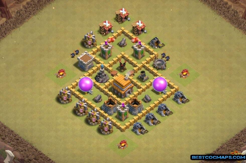 coc th5 war base link