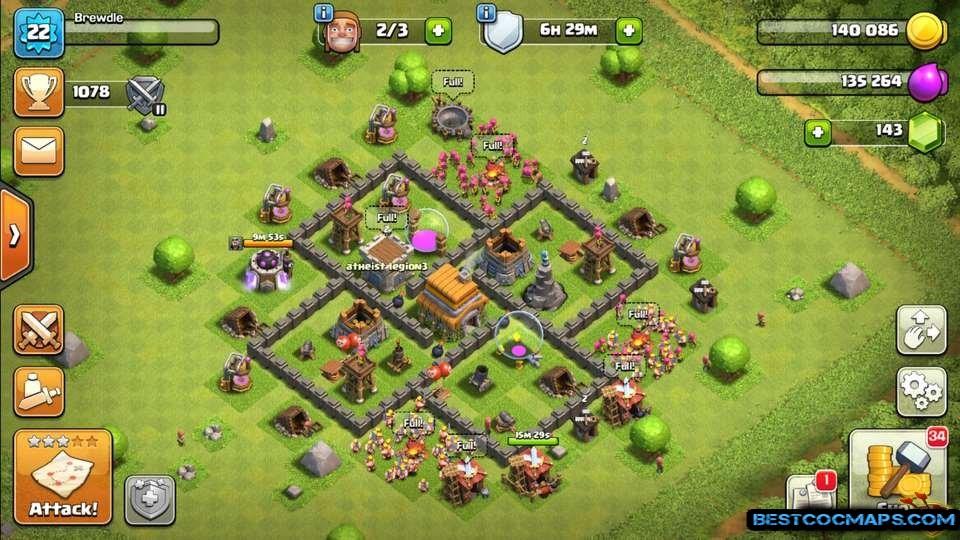 th5 trophy base anti 3 stars