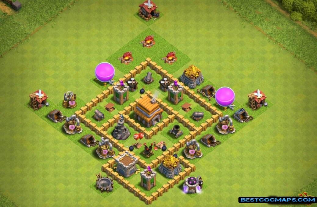coc th5 trophy base