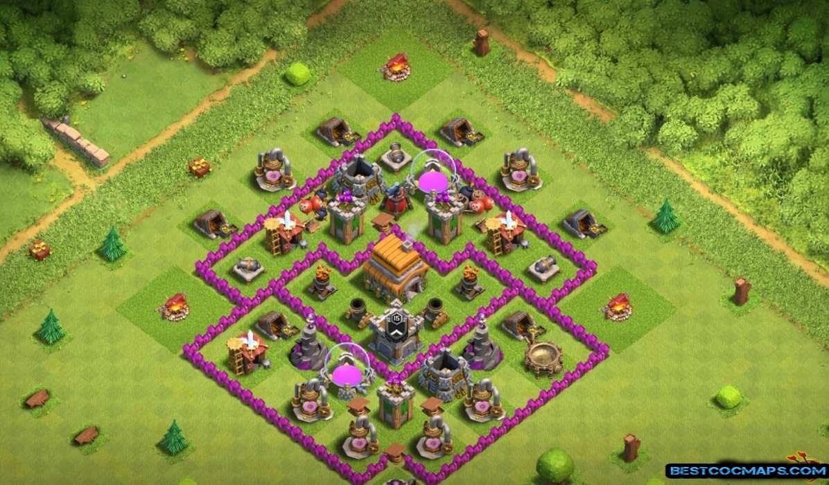 th6 war base anti giant and dragon