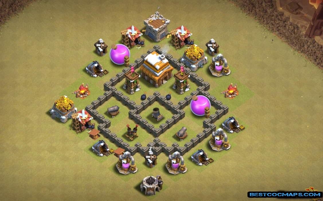 th4 war base anti 3 star