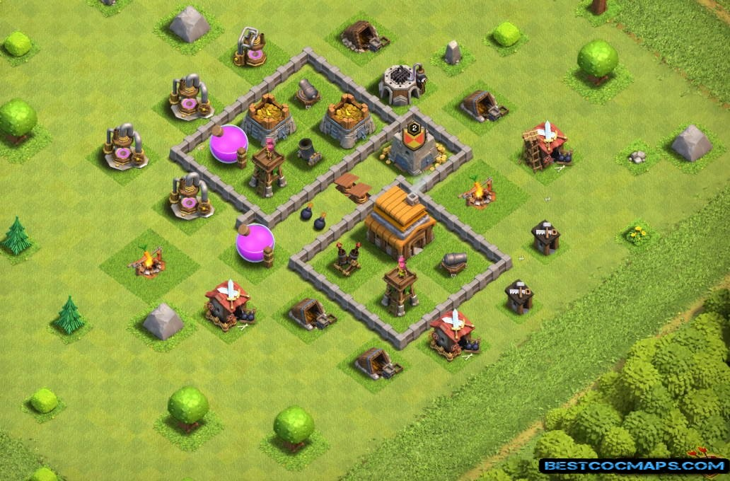 th4 best base layout