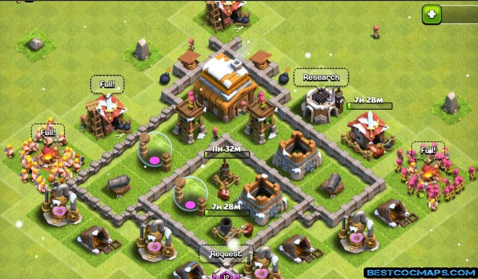 coc th4 trophy base 2021