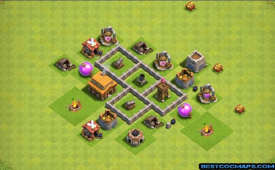 clash of clans th3 farming base