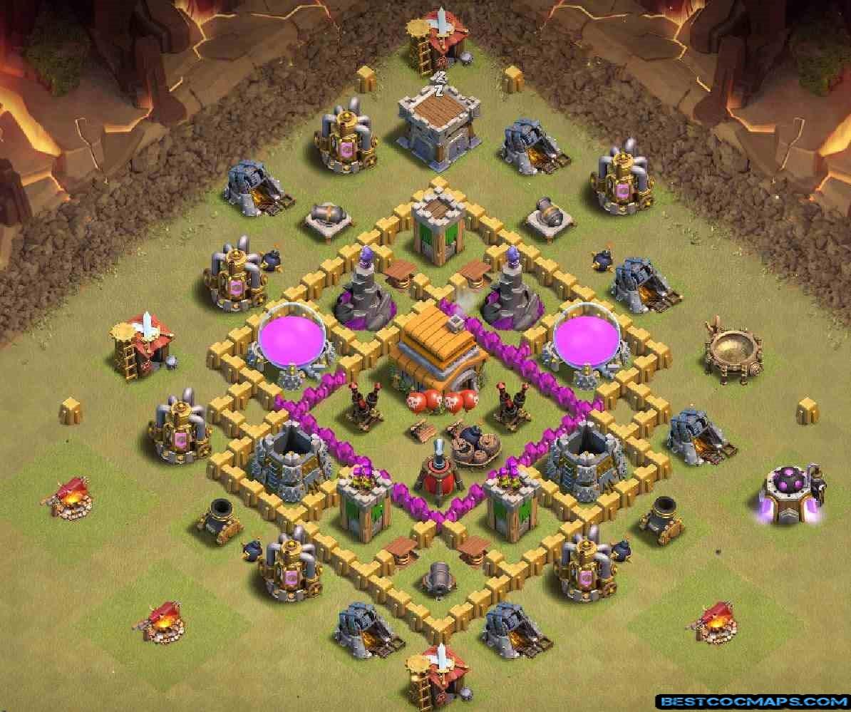 th6 war base clash of clans