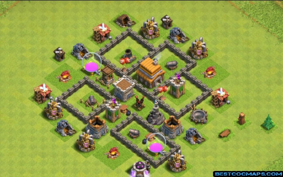 town hall 5 trophy base copy link
