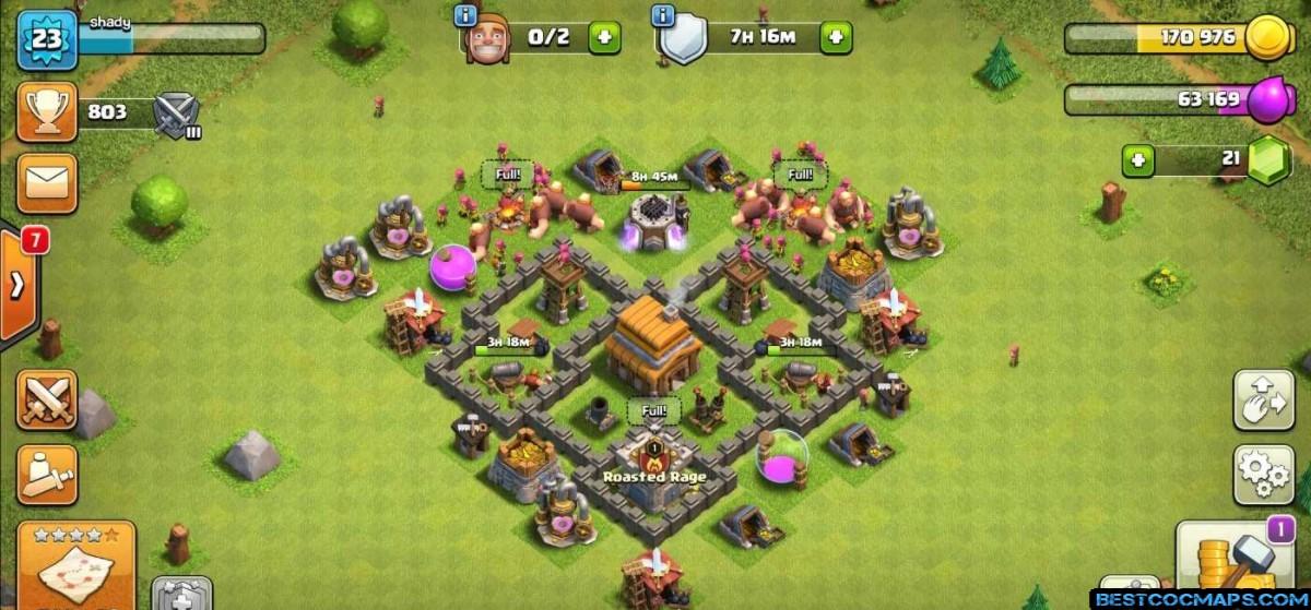 coc th4 farming base