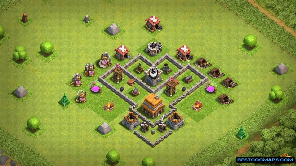 Town Hall 4 Bases