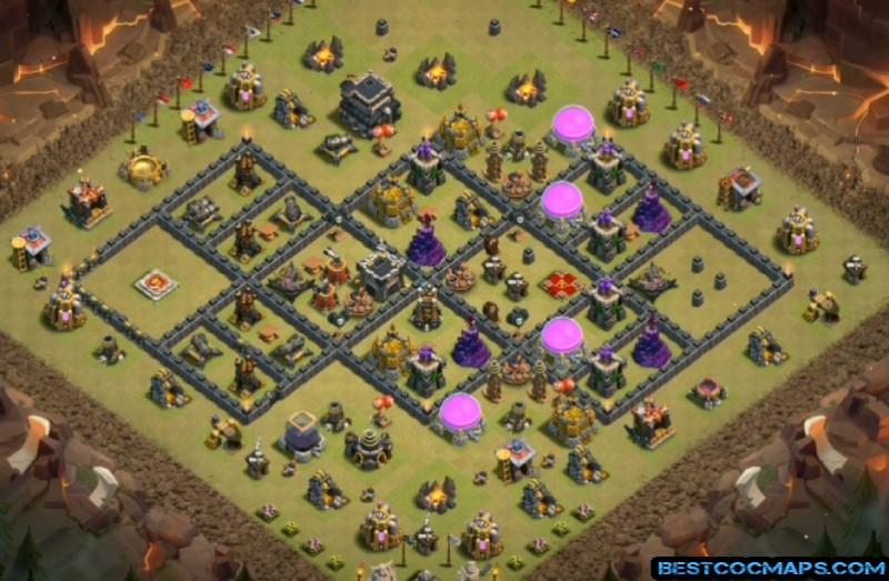 Town Hall 9 Bases