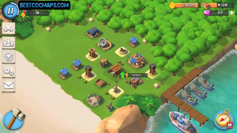 best boom beach base hq5